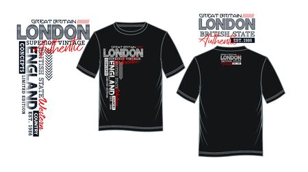 London, England for t-shirt print, label and casual wear. Vector.