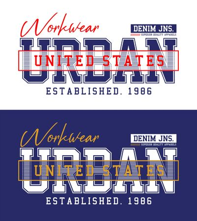 Urban, t-shirt print, label,casual wear and for other jobs. Vector.