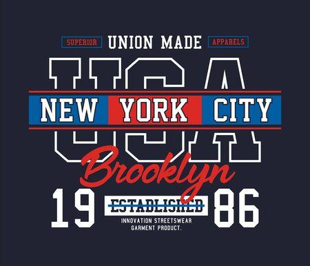 Athletic New York City, USA stylish t-shirt and apparel trendy design, typography, print, vector illustration.