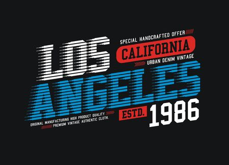 Los Angeles, California, USA stylish t-shirt and apparel trendy design, typography, print, vector illustration.