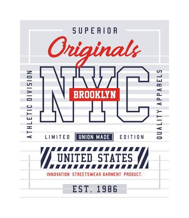 Superior NYC, Brooklyn, t-shirt and apparel design, typography, print, poster. vector