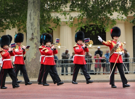 Rehearsal for the official birthday of Queen Elizabeth ll in London