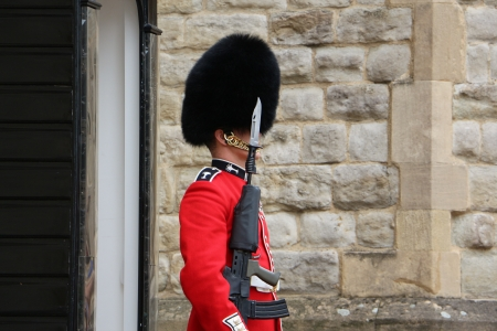 sentry: Sentry of the Grenadier Guards at the Tower Of London Editorial