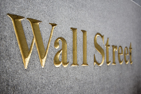 Teken van Wall Street