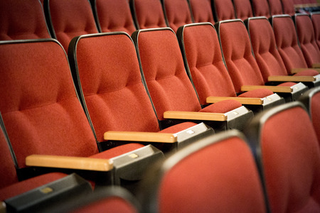 Row of red theatre seats