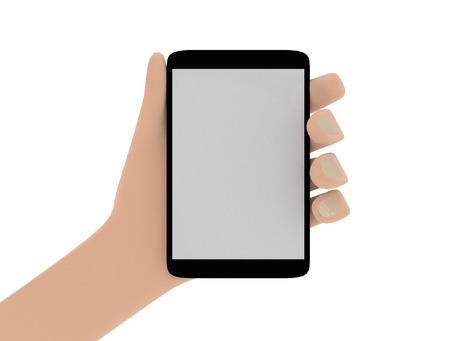 blanked: Illustration of hand holding smartphone with blanked screen