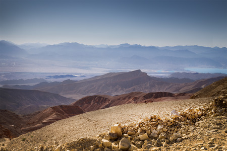 timna: The Mountain Ranges Chain of Timna Part of The Eilat Mountains Stock Photo