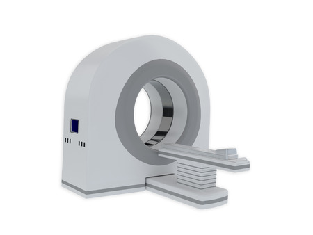 tomograph: 3d Render illustration of CT scanner isolated