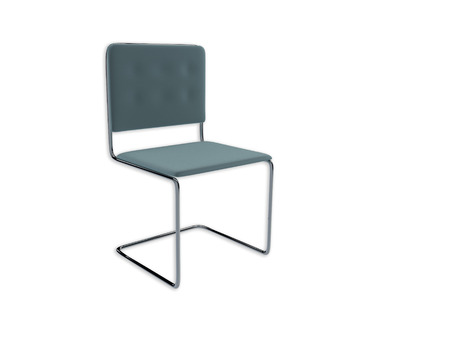 regular people: 3D render illustration of a typical metal frame office chair