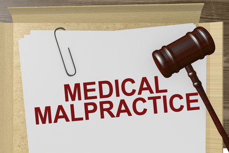 Medical Malpractice Paperwork On Legal Papers Standard-Bild