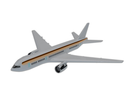 airliner: Illustration of commercial airliner isolated on white