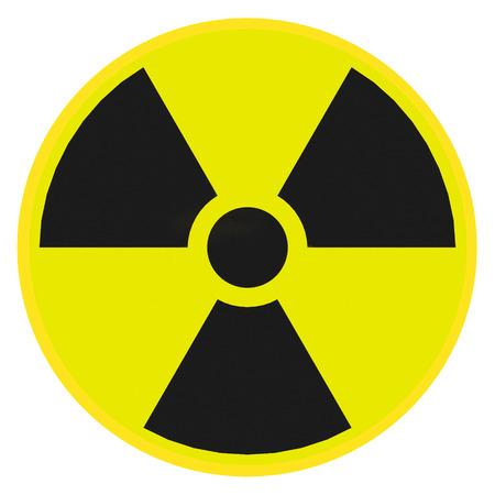 Render illustration of radioactive warning sign