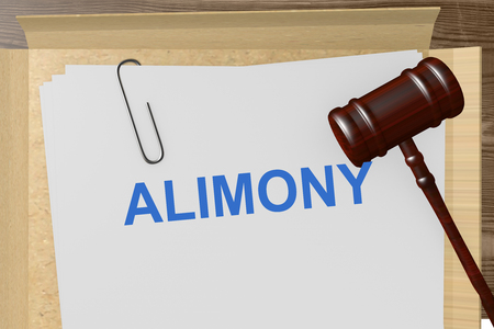 alimony: Alimony Title On Legal Documents Stock Photo
