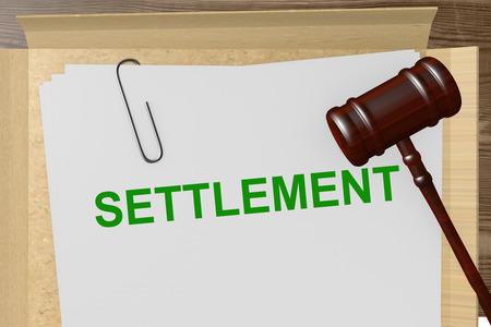 settlement: Settlement Title On Legal Documents