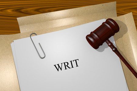 writ: WRIT Title On Legal Documents Stock Photo