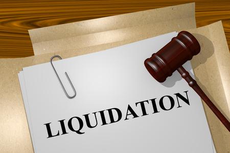 liquidation: Render illustration of Liquidation Title On Legal Documents