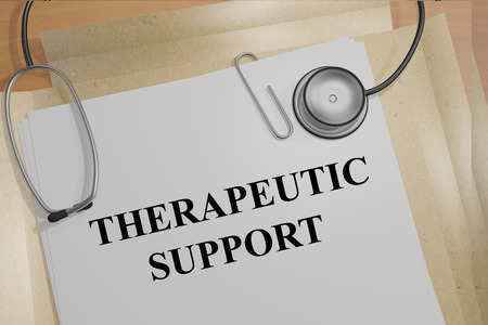 therapeutical: Render illustration of Therapeutic Support title on Medical Documents