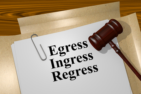 regress: Render illustration of Egress Ingress Regress title On Legal Documents