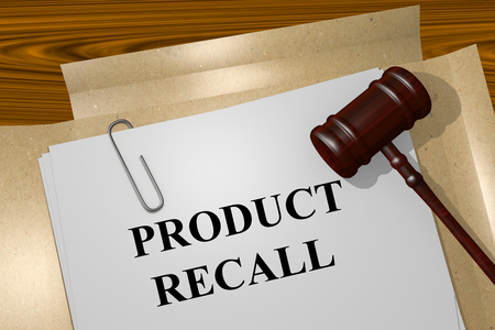 financially: Render illustration of Product Recall title on Legal Documents