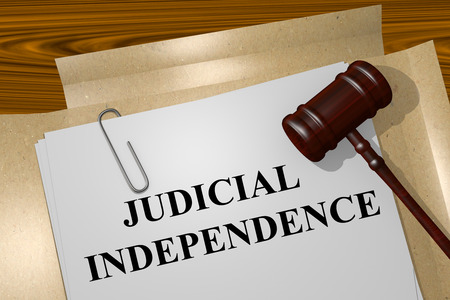 judicial: Render illustration of Judicial Independence title on Legal Documents
