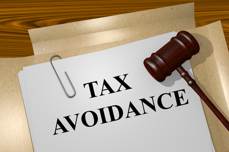 avoidance: Render illustration of Tax Avoidance title on Legal Documents