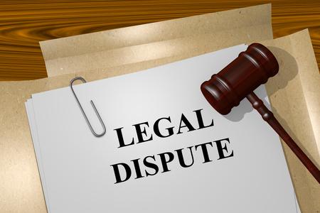 Render illustration of Legal Dispute title on Legal Documents