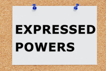 expressed: Render illustration of Expressed Powers script on cork board