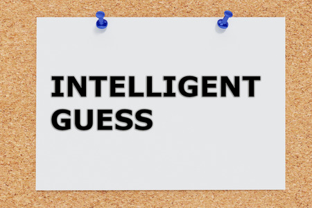 Render illustration of Intelligent Guess script on cork board