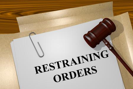 restraining: Render illustration of Restraining Orders title on Legal Documents