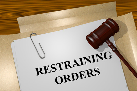 Render illustration of Restraining Orders title on Legal Documents