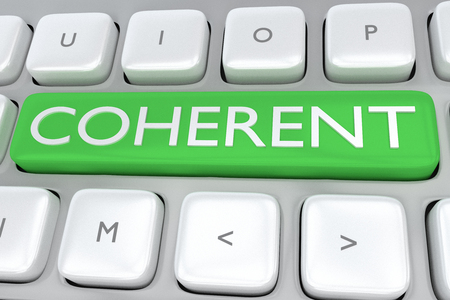 緑色のボタンで印刷のコヒーレントでコンピューターのキーボードの図をレンダリングします。