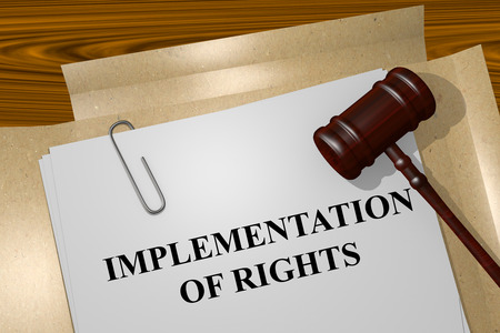implementation: Render illustration of Implementation of Rights title on Legal Documents