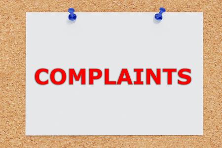 unacceptable: Render illustration of Complaints script on cork board