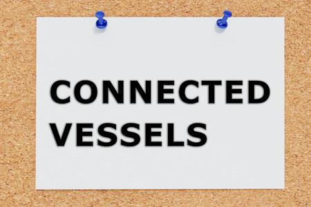 lamina: Render illustration of Connected Vessels script on cork board