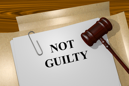 faultless: Render illustration of Not Guilty title on Legal Documents