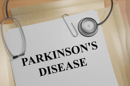 parkinson's: Render illustration of Parkinsons Disease title on medical documents
