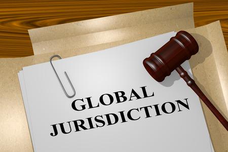 jurisdiction: Render illustration of Global Jurisdiction title on Legal Documents