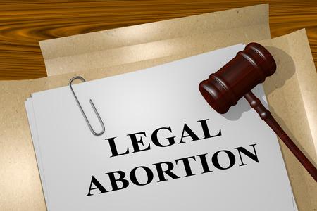 法律文書で「中絶」タイトルの 3 d イラストレーション。法的概念。 写真素材 - 58877974
