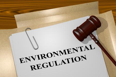 法的文書に「環境規制」タイトルの 3 D イラストレーション 写真素材 - 60254917