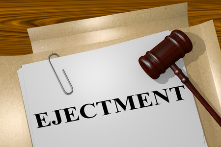 letting: 3D illustration of EJECTMENT title on legal document