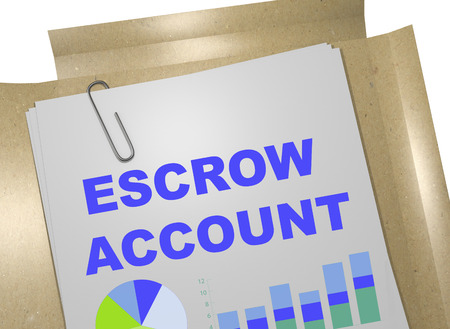 equal opportunity: 3D illustration of ESCROW ACCOUNT title on business document