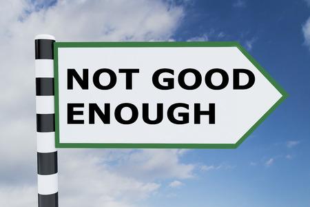 道路標識の「十分ではない」スクリプトの 3 D イラストレーション 写真素材 - 64820189