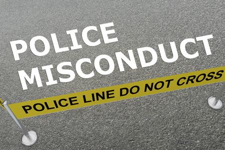 地上では警察の分野で「警察不祥事」タイトルの 3 D イラストレーション 写真素材 - 64972208
