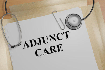 3D illustration of ADJUNCT CARE title on a document