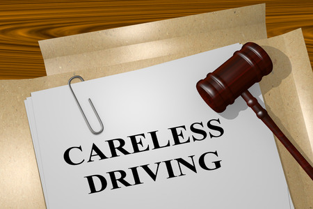 drunk driving: 3D illustration of CARELESS DRIVING title on legal document Stock Photo