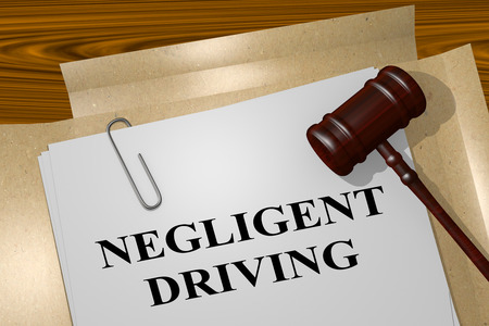 night vision: 3D illustration of NEGLIGENT DRIVING title on legal document Stock Photo
