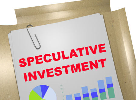 3D illustration of SPECULATIVE INVESTMENT title on business document