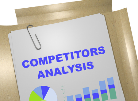 3D illustration of COMPETITORS ANALYSIS title on business document Stock Photo
