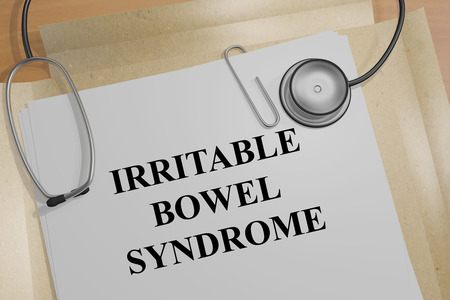 bowel: 3D illustration of IRRITABLE BOWEL SYNDROME title on a medical document