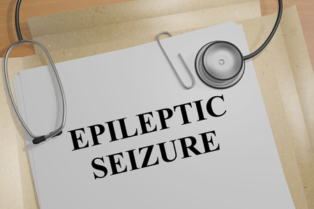 3D illustration of EPILEPTIC SEIZURE title on a medical document